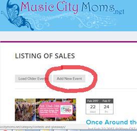 Nashville Consignment Sales Calendar