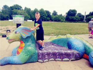 centennial park mosaic dragon