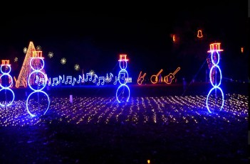 dancing lights of Christmas holiday lights Nashville