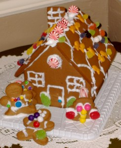 safe holidays gingerbread house