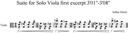 Suite for Solo Viola first excerpt 3'01 -3'08