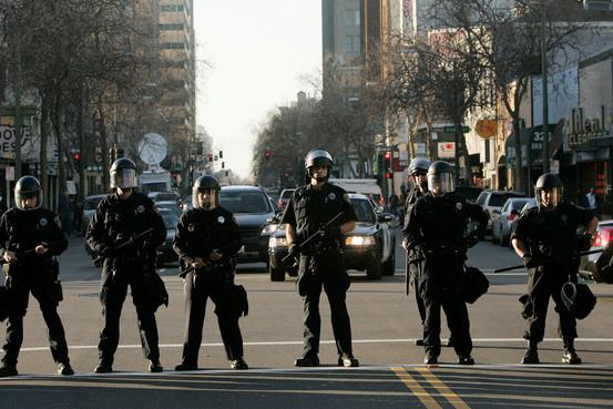 Cops in line