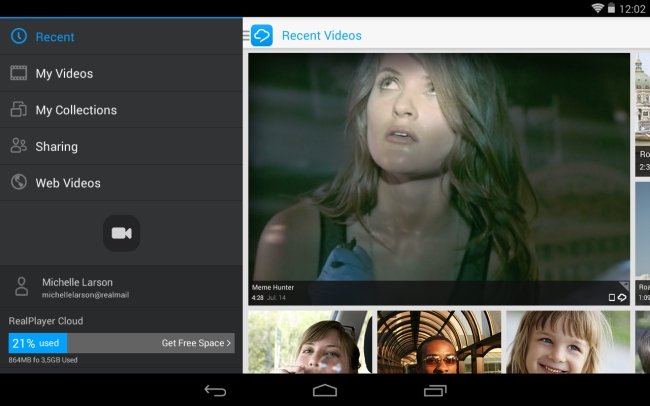 REAL video player for android