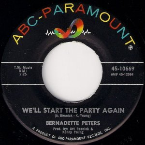 Bernadette Peters - We'll Start The Party Again, ABC-Paramount 7""