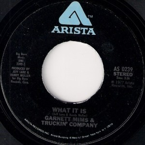 Garnett Mims & Truckin' Company - What Is This, Arista 7""