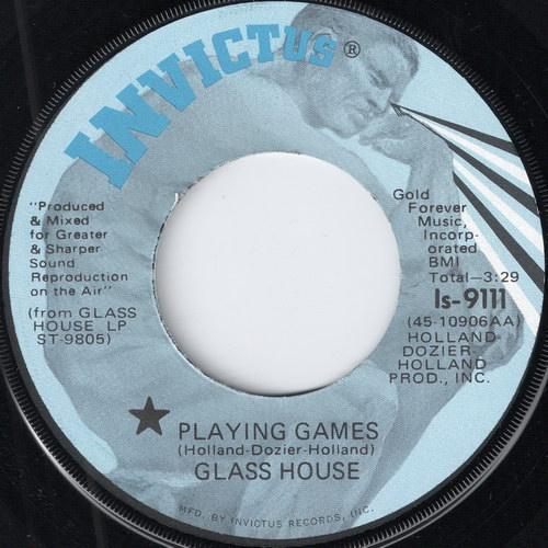 Glass House - Playing Games, Invictus 7""