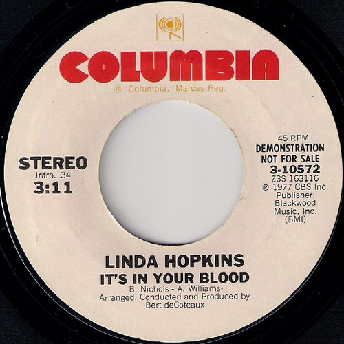 """Linda Hopkins - It's In Your Blood, Columbia 7"""""""