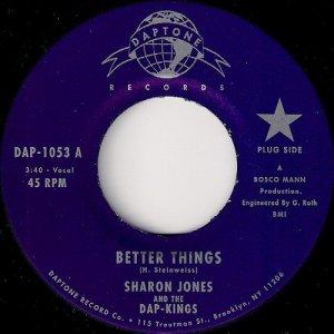 Sharon Jones And The Dap-Kings - Better Things, Daptone 45