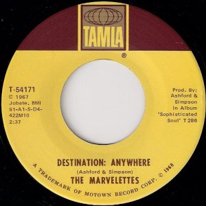 The Marvelettes - Destination Anywhere, Tamla 45