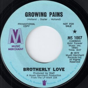 Brotherly Love - Growing Pains, Music Merchant 45
