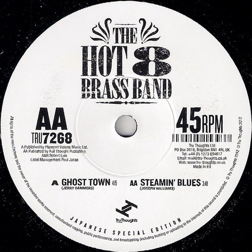 Hot 8 Brass Band - Steamin Blues, Tru Thoughts 45
