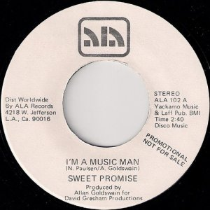 Sweet Promise - I'm A Music Man, ALA 45