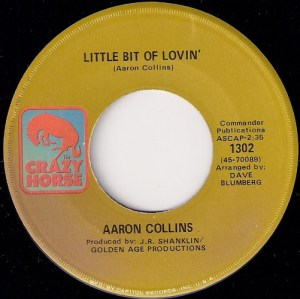 Aaron Collins - Little Bit Of Lovin', Crazy Horse 45