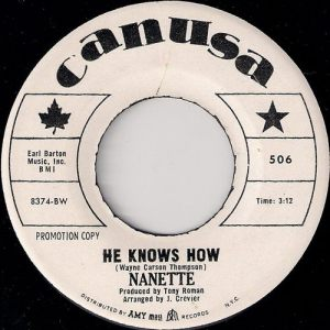Nanette - He Knows How, CanUSa 45