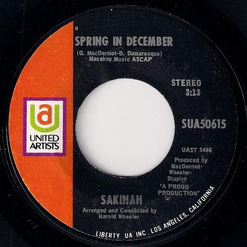 Sakinah - Spring In December, United Artists 45