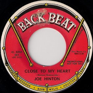 Joe Hinton - Close To My Heart, Back Beat 45.