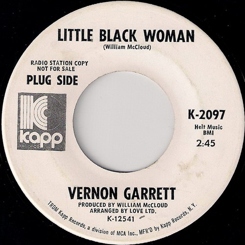 Vernon Garrett - Little Black Woman, Kapp 45
