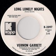 Vernon Garrett - Long Lonely Nights, Kapp 45