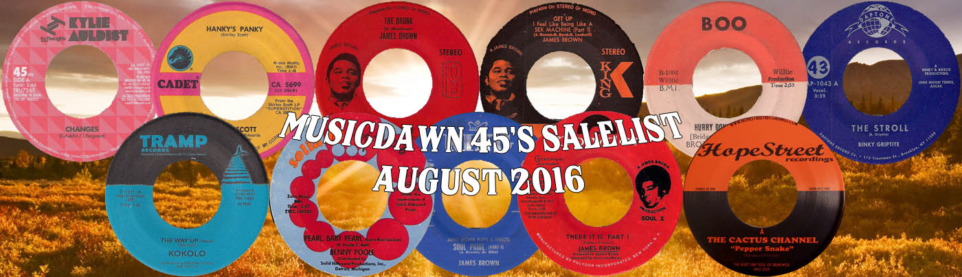 Musicdawn August 2016 45s Sale List