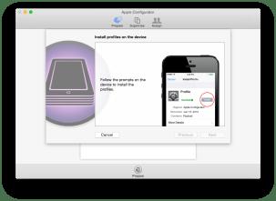 Jetzt geht's auf dem iOS Gerät weiter