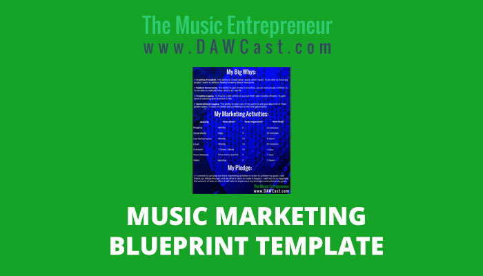 Music Marketing Blueprint Template [INFOGRAPHIC]