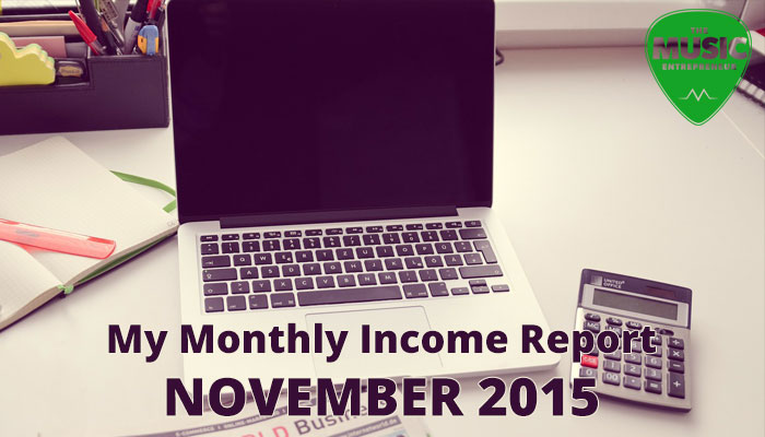 My November 2015 Monthly Income Report