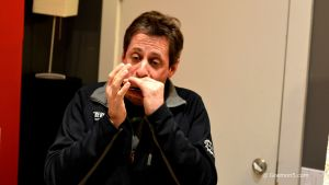 Playing blues harp in the studio