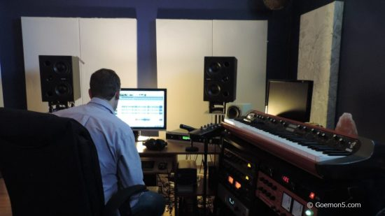 Craig Newnes at the mixing board