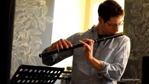 Flautist - recording with Goemon5