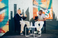 Cory Booker and Carlos Watson at OZY Fusion Festival 2016 by Coen Rees