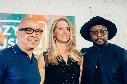 Darren Walker, Laurene Powell Jobs and will.i.am at OZY Fusion Festival 2016 by Coen Rees