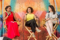 Phoebe Robinson, Ilana Glazer and Abbi Jacobson at OZY Fusion Festival 2016 by Coen Rees