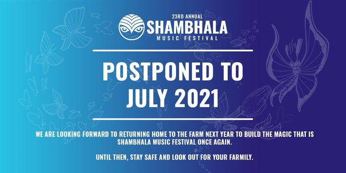 Shambhala, Electric Forest, Burning Man, Tomorrowland, & More Cancel 2020 Dates due to COVID-19