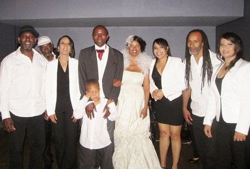 True Vybez  with the newlyweds