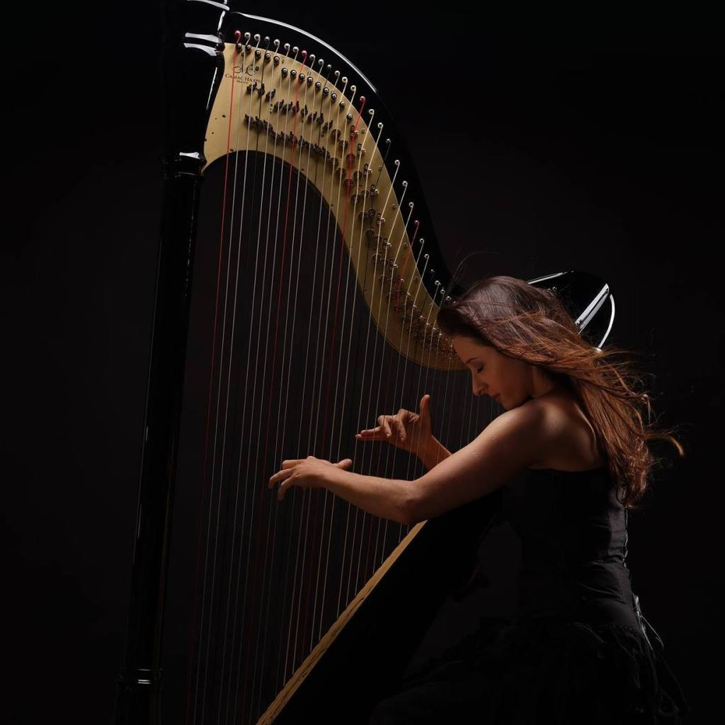 Harpist-Beautiful-Harp