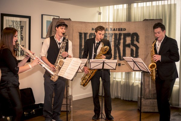 Saxophone Quartet at Product Launch