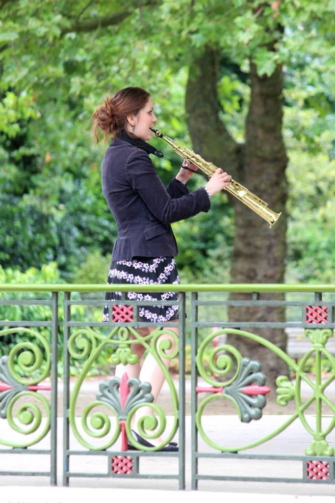 Beautiful Female Saxophonist in London