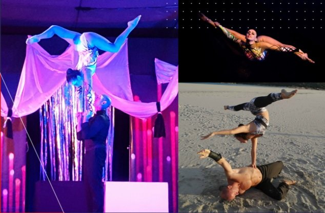 Book Professional Aerial Acrobatic Performers in London - Music for London