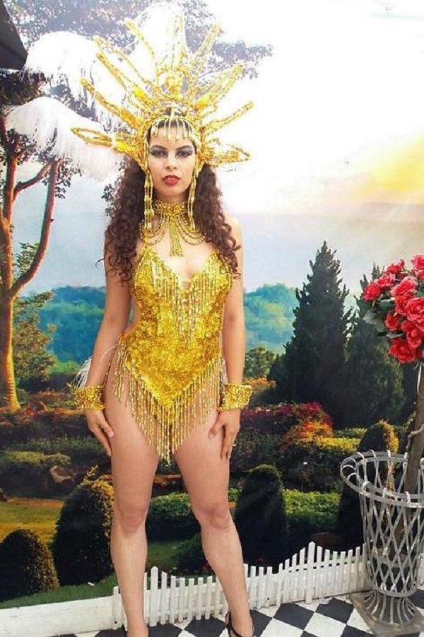 Gold Showgirl Costume