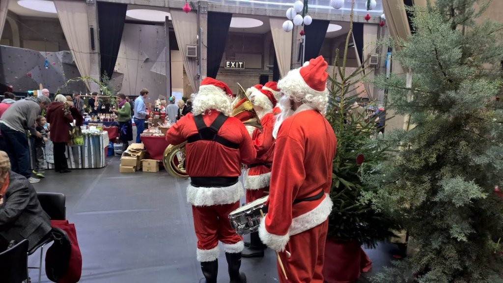 Brass Band Dressed as Santa Claus for Hire