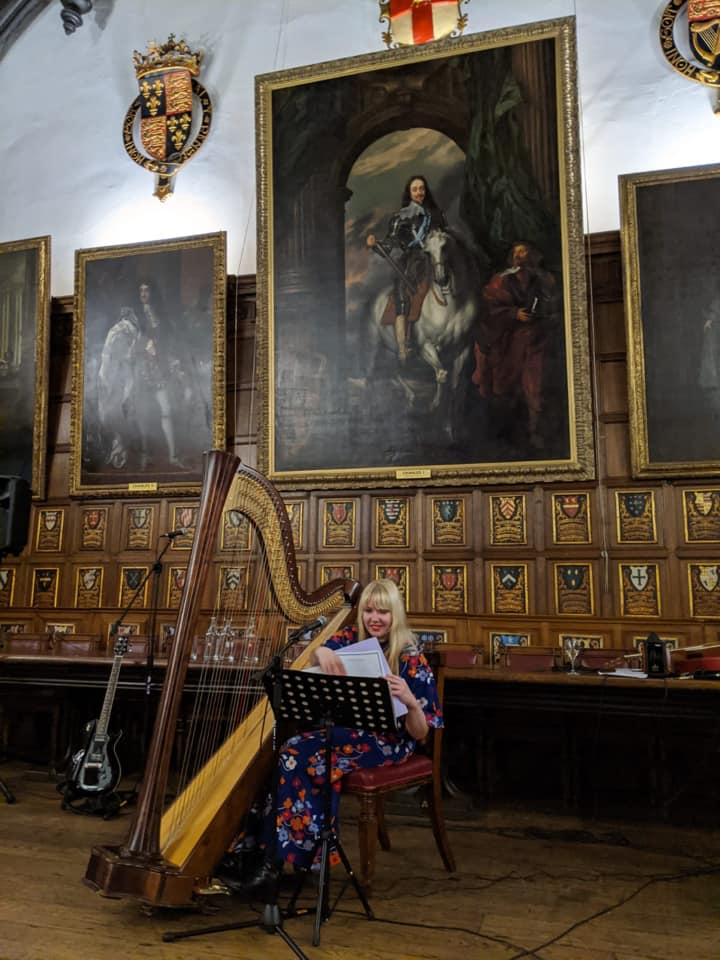 Harpist at Middle Temple Hall London