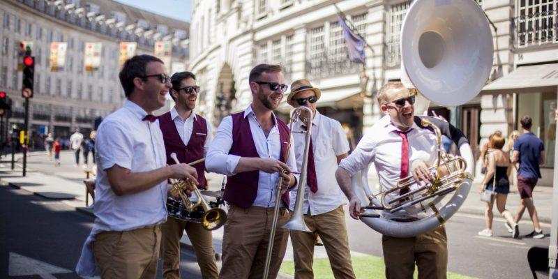Busking Brass Band in London