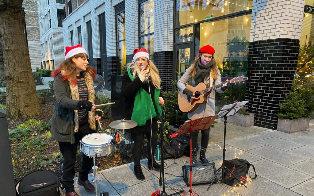 Contemporary Carol Singers in London