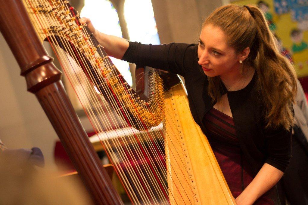Harpist-Playing-Harp