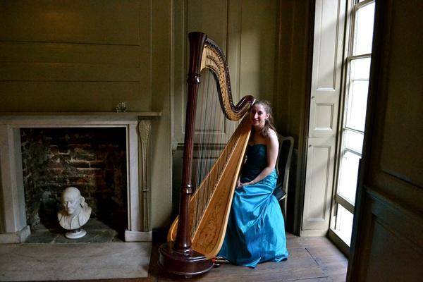 Harpist at Recital