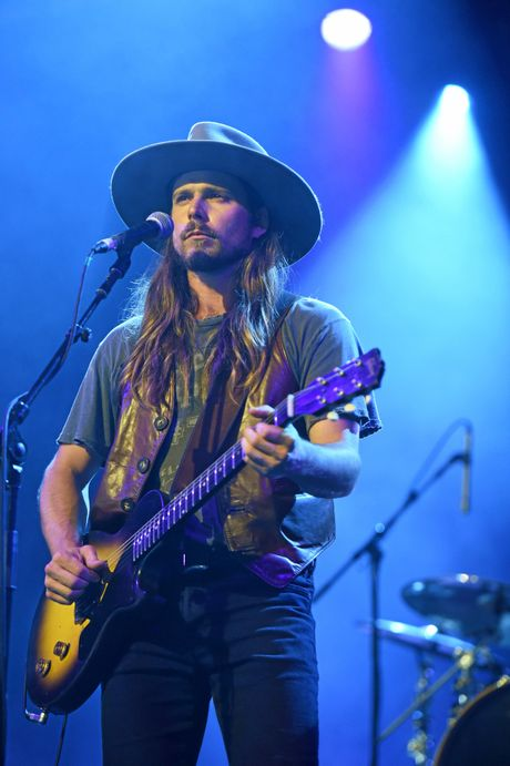 Lukas Nelson and the Promise of the Real perform at the Crossroads Stage at Bluesfest 2018 in Byron Bay.