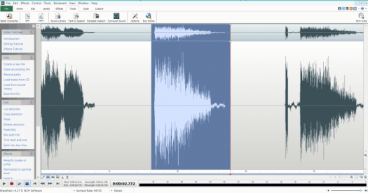WavePad is a great free programme that can batch process