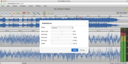 twistedwave is a new free online DAW or sound software to use in your home studio