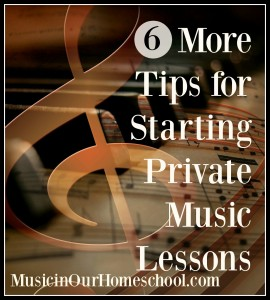 6 MORE Tips for Starting Private Music Lessons