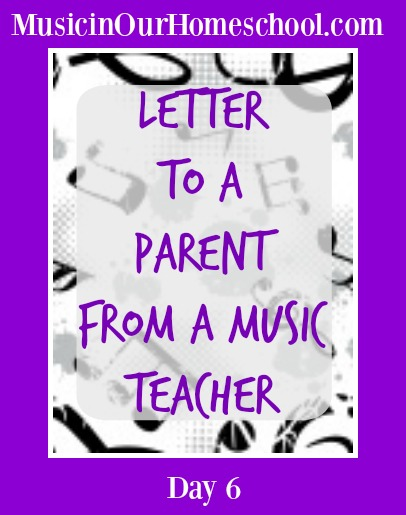 Letter to Parent from Music Teacher